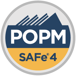 SAFe® 4 Product Owner/Product Manager (POPM4) Badge